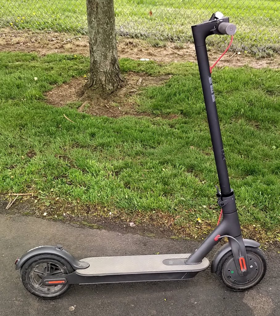 Photo of a Xiaomi M365 scooter